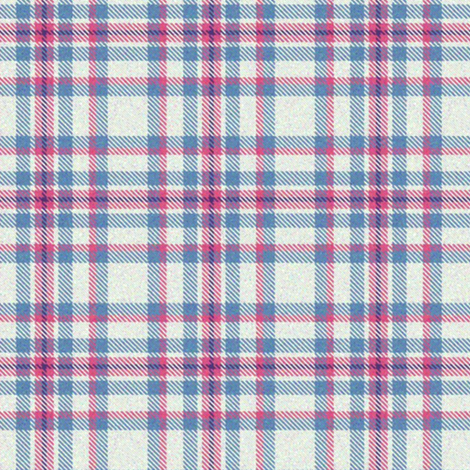 White, Pink, and Blue Plaid fabric by eclectic_house on Spoonflower - custom fabric