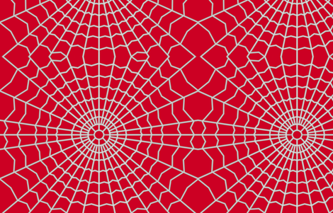 Spider web on Deep Red CC0022 fabric by house_of_heasman on Spoonflower - custom fabric