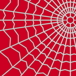 Spider web on Deep Red CC0022