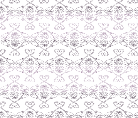 frog love ombre fabric by babysisterrae on Spoonflower - custom fabric