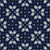 Pretty Blue Daisy Hearts