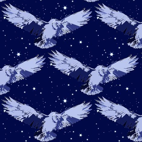 midnight owl fabric by keweenawchris on Spoonflower - custom fabric