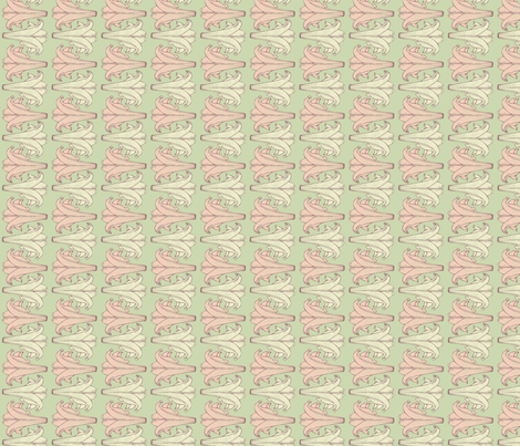 Spring Lilies - Horizontal fabric by the-silk-magpie on Spoonflower - custom fabric