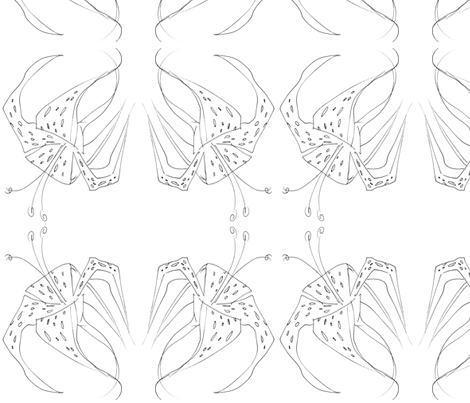 White Tiger Lillys  fabric by art_rat on Spoonflower - custom fabric