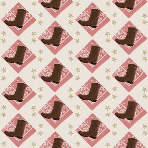 Boots and Bandanas Pink
