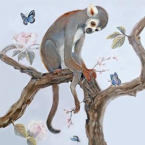 Monkey and Cherry Branch