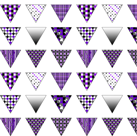 Ace - Patterned - Triangles fabric by lierre on Spoonflower - custom fabric