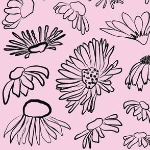 Wildflowers Pink Black