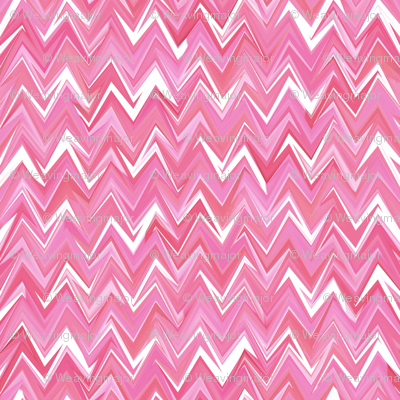 Wink at the next big jumpy chevron in fluid rose quartz hues