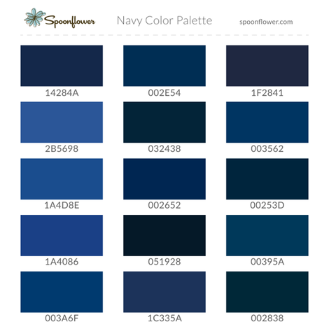 Spoonflower Navy Palette fabric by spoonflower_help on Spoonflower - custom fabric