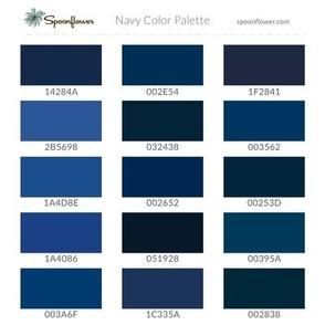 Spoonflower Navy Palette