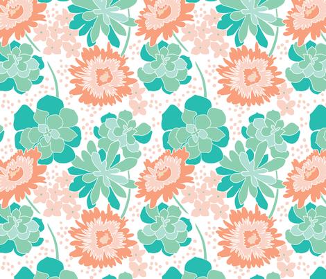 Succulent_Terrarium fabric by fishkiss on Spoonflower - custom fabric