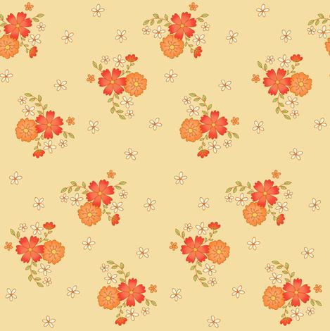 Summer Flowers fabric by hazelfishercreations on Spoonflower - custom fabric