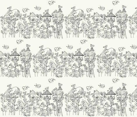 Home Sweet Home fabric by krussimages on Spoonflower - custom fabric