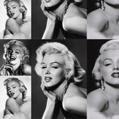 marilyn in white and black-ed
