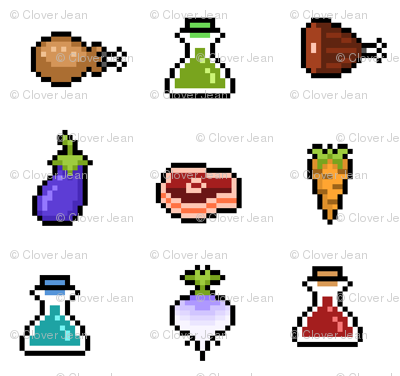 RPG Pixelated Items