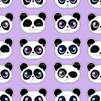 Panda Expressions Purple