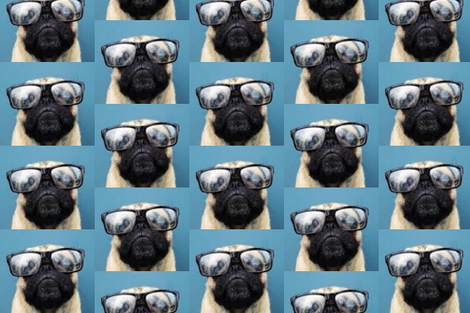 pug_in_glasses-ed-ed fabric by live&cre8 on Spoonflower - custom fabric