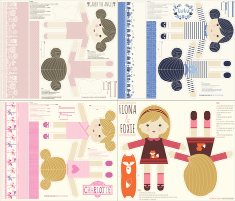 FOUR_DOLLS_1 fabric by stacyiesthsu on Spoonflower - custom fabric