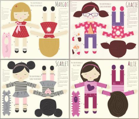 four_doll_2 fabric by stacyiesthsu on Spoonflower - custom fabric