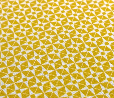 Wheelock (Gold)    star starburst cross geometric atomic diamonds mustard