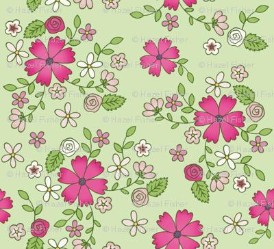 Spring pink flowers