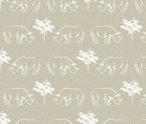 Rhinos Too fabric by jenflorentine on Spoonflower - custom fabric