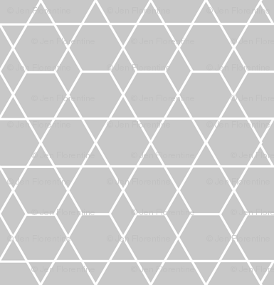 Diamond Lines Gray
