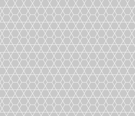 Diamond Lines Gray fabric by jenflorentine on Spoonflower - custom fabric