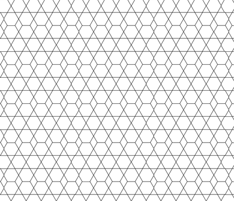 Diamond Lines fabric by jenflorentine on Spoonflower - custom fabric
