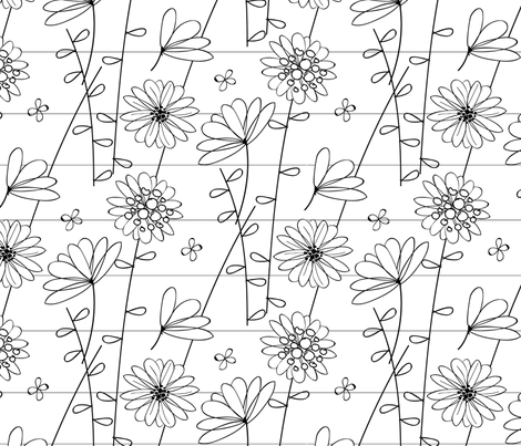 Floral Lines fabric by jenflorentine on Spoonflower - custom fabric