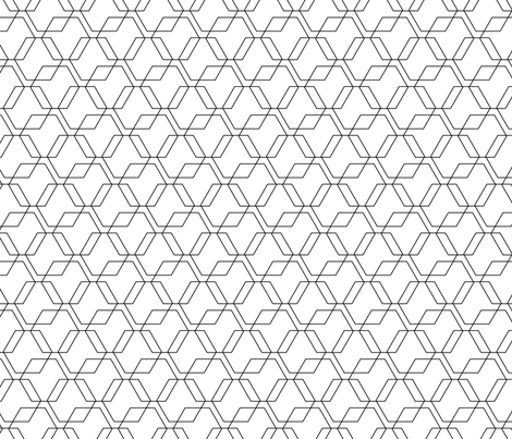 Hexagon Lines fabric by jenflorentine on Spoonflower - custom fabric