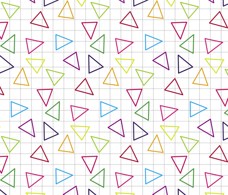 Triangular Grid fabric by jenflorentine on Spoonflower - custom fabric