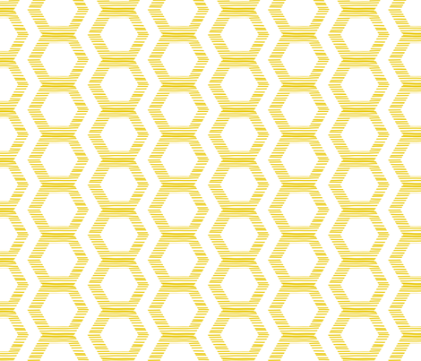 Honeycomb fabric by jenflorentine on Spoonflower - custom fabric
