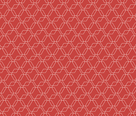 Red Hexagons fabric by jenflorentine on Spoonflower - custom fabric