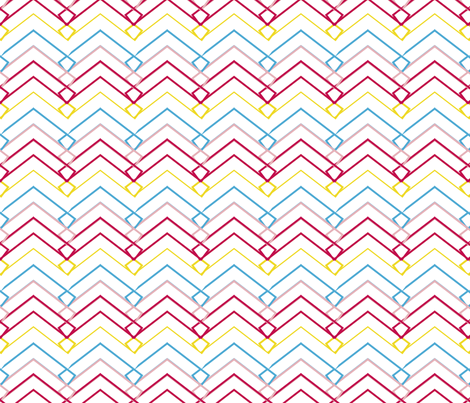 Unexpected Chevron fabric by jenflorentine on Spoonflower - custom fabric