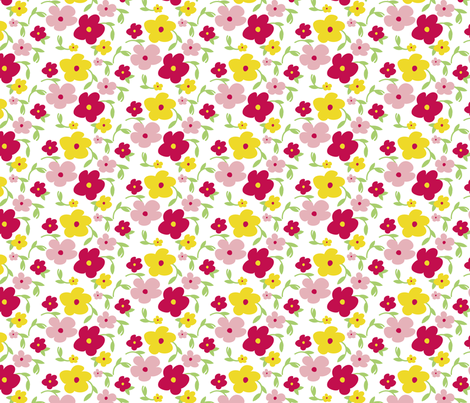 Floral Ditsy fabric by jenflorentine on Spoonflower - custom fabric