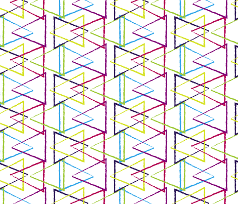 Colored Triangles fabric by jenflorentine on Spoonflower - custom fabric