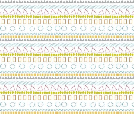 Uneasy Tribal fabric by jenflorentine on Spoonflower - custom fabric