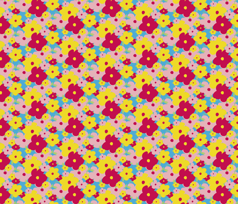 Summertime Floral fabric by jenflorentine on Spoonflower - custom fabric