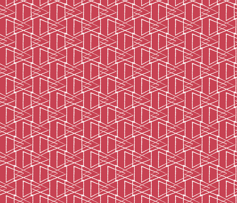 Red Triangles fabric by jenflorentine on Spoonflower - custom fabric