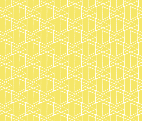 Yellow Triangles fabric by jenflorentine on Spoonflower - custom fabric