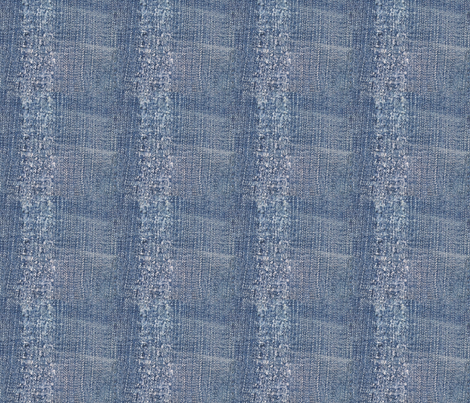 Worn Stripe Denim Blue Jeans Look fabric by cutencomfy on Spoonflower - custom fabric