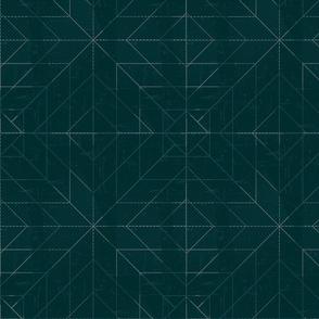 Geometric Lines Green