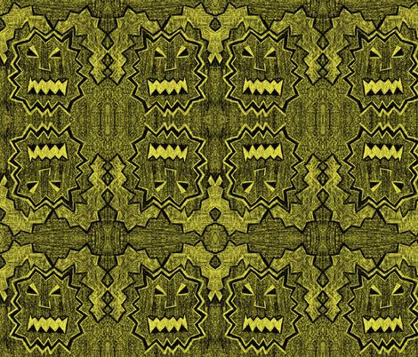 Rabid Rabbit Monster: illuminated fabric by jennerbug on Spoonflower - custom fabric