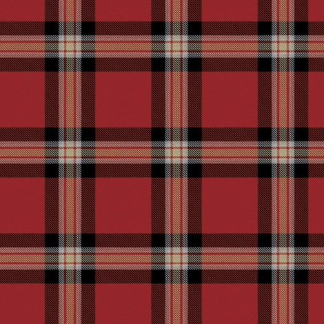 Red Black Cream Plaid (Revised) fabric by eclectic_house on Spoonflower - custom fabric