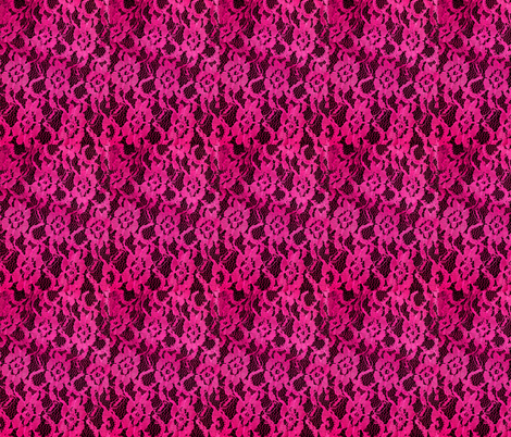 Lacy Hot Pink Lace Print fabric by cutencomfy on Spoonflower - custom fabric
