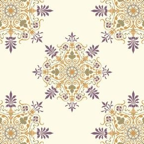 Victorian Parlor - plum/Gold