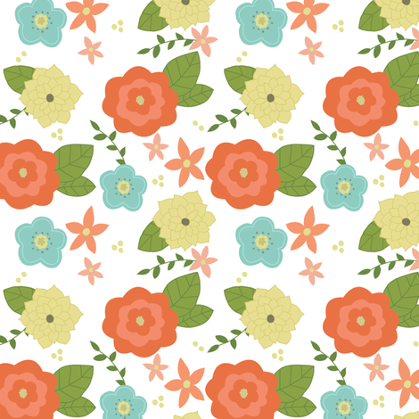 Spring time floral fabric by mintpeony on Spoonflower - custom fabric