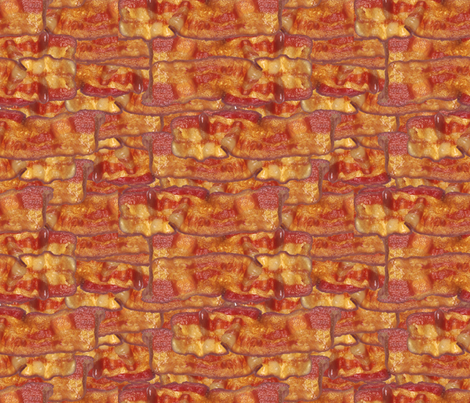 Photorealistic Bacon fabric by cutencomfy on Spoonflower - custom fabric